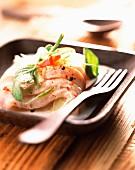 Grouper fish marinated in coconut milk
