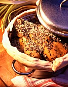 Baeckeoffe mit Maishähnchen