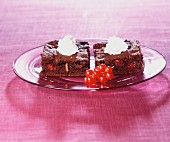 Redcurrant brownies