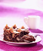 Chocolate brownie with chestnut cream