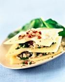 Emmental, tabbouleh and herb salad