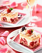Raspberry and cream dessert