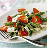 Strawberry, asparagus and Feta salad