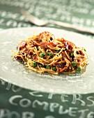 octopus vermicelli pasta