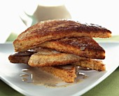 wholemeal French toast with soy cream