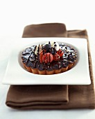 Chocolate and fruit tartlet
