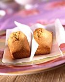 Individual vanilla sponge cakes