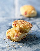 Ham and cheese croquettes with sesame seeds