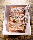 West Indian-style rabbit terrine