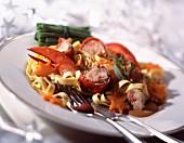 lobster sautéed with tagliatelle
