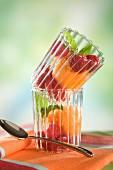 Mandarin,raspberry and lemon balm sorbet