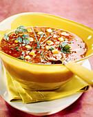 Tomato and corn soup