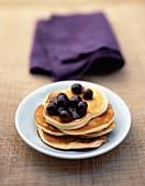 Blueberry pancakes with mascarpone