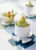 Avocado and sweet almond oil sorbet