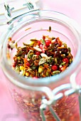 Jar of mixed spices