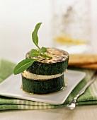 zucchini au gratin with cheese