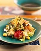Wakame-Algensalat mit Tofu
