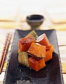 Cooked diced pumpkin