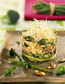 Brown rice and vegetable timbale