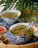 clear chinese soup with lemongrass