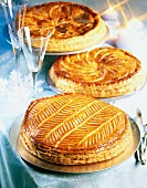 Galettes des rois almond flaky pastry cakes