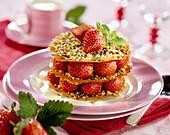 Strawberry Croustillant dessert