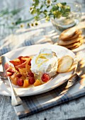 Ricotta with summer fruits