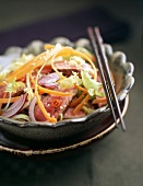 Crying Tiger Thai marinated grilled beef with carrot salad