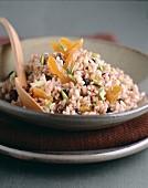 Raisin,pistachio and dried apricot risotto