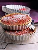 Sugared almond praline tarts