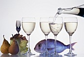 Composition of wine, fish and fruit products