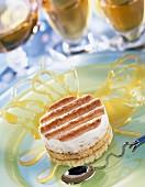 Caramel and coconut inviduel sponge cake