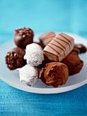 Dish of chocolates