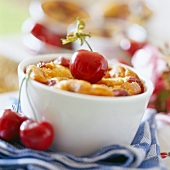Cherry Clafoutis batter pudding