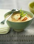 Lobster consommé soup