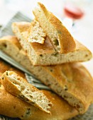 Fougasse green olive bread
