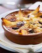 Birnen-Trauben-Clafoutis