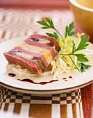 Foie gras and gizzard terrine