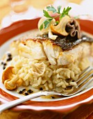 Piece of cod with truffle risotto