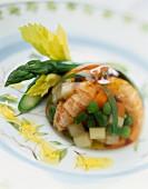 Shrimp and aspic terrine