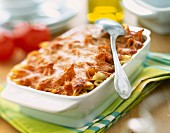 Penne pasta and tomato bake