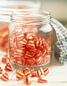Berlingot boiled, striped candy