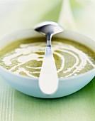 Creamed lettuce soup