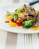 Lauwarmer Salat mit Estragon-Ente