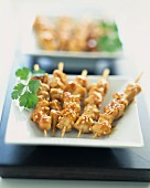 Chicken and sesame seed Yakitori kebabs