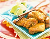 Bite-size Thai chicken with lime