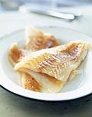 Raw cod fillets