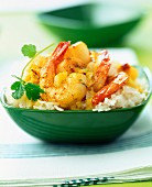 West indian curry with seafood
