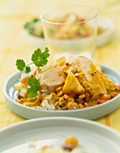 Chicken and rice curry