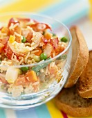 Rice and lobster salad